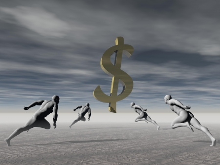 money and men sky grey Stock Photo - 22851748