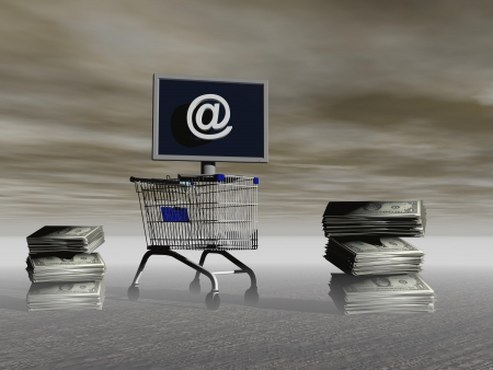 shopping on the Internet planet photo