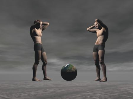 mundo contaminado: dos hombres y el planeta azul
