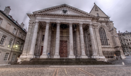 neo classical: St-Pierre Cathedral in Geneva, Switzerland