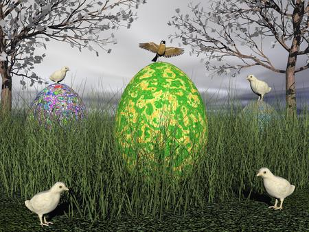 A scene of the holiday Easter photo