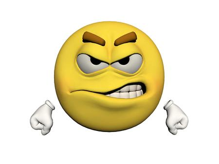 icone: emoticon angry yellow and white