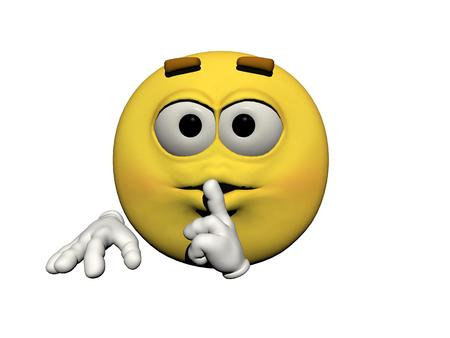 icone: emoticon silence yellow and white