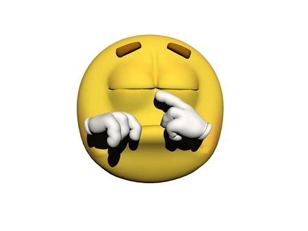 sleeps: emoticon sleeps yellow and white Stock Photo