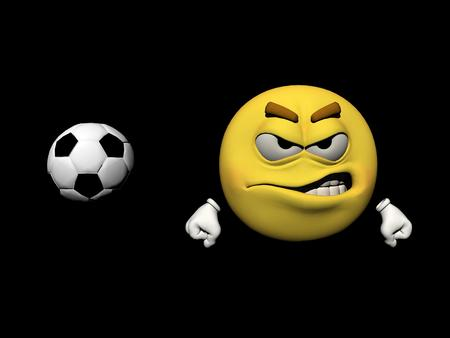 icone: Emoticon does not like the soccer