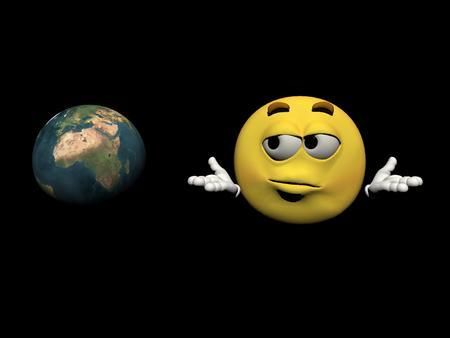 uncomfortable: Emoticon in concerns for the planet