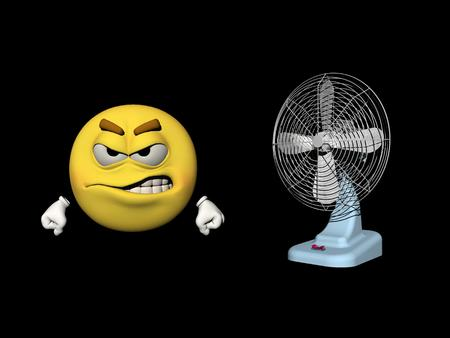 ventilator: Emoticon who does not like the ventilator