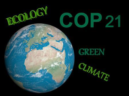 onu: COP21 in Paris green - 3d render