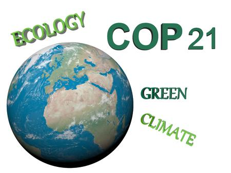 COP21 in Paris green - 3d render