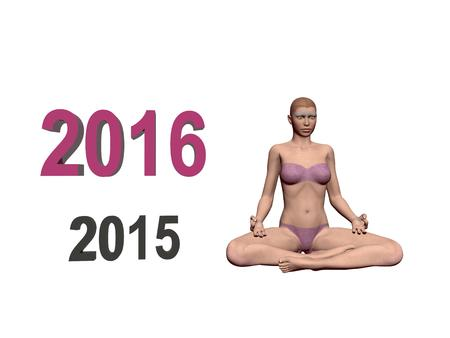 new years resolution: Happy New Year in yoga and mediation