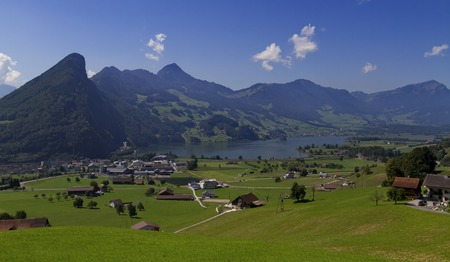 Magnificent view on the region of Lucerne and lake