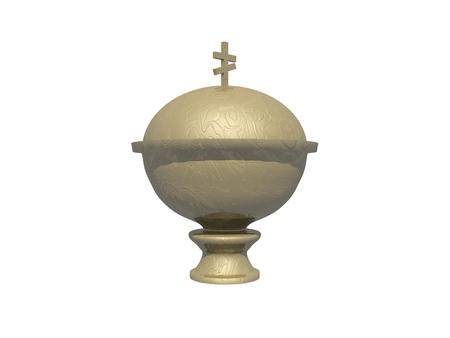 urn: Urn for ashes simple icon on white background Stock Photo
