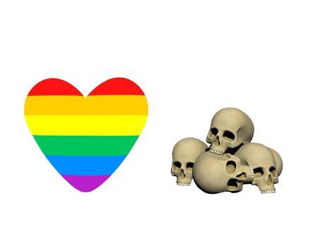 homophobic crimes love crime - 3d rendering Stock Photo