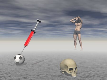 Effects of doping in sport - 3d rendering