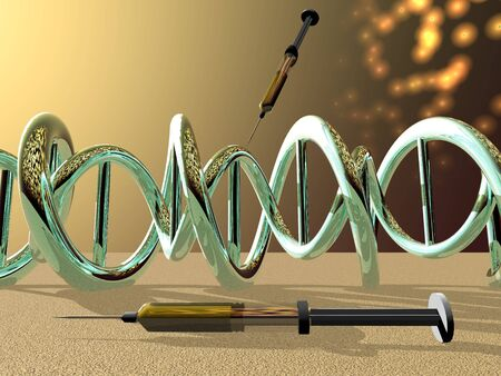 dna symbol on it isolated in white background - 3d rendering Stockfoto
