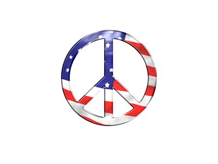 beautiful logo with the flag of the united states - 3d rendering