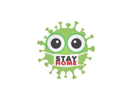 stop coronavirus and virus white background - 3d rendering