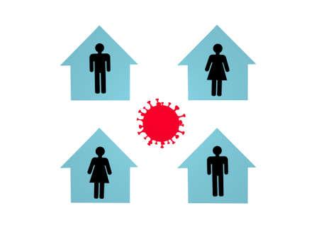 stop coronavirus and white background - 3d rendering