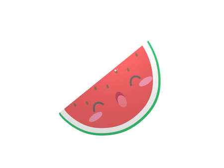 very nice piece of watermelon on white background - 3d rendering Banque d'images