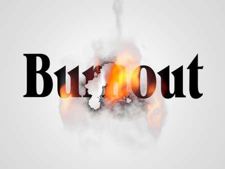 word burnout on  white Banque d'images