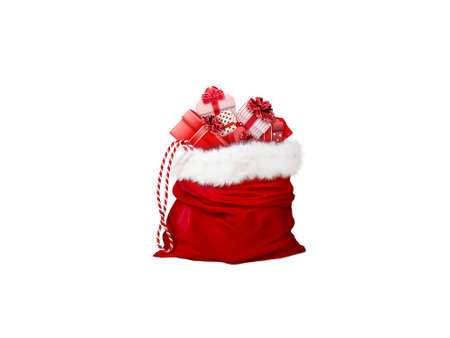 bag of gifts on white background - 3d rendering Banque d'images