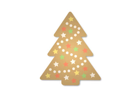 christmas tree on white background - 3d rendering Banque d'images