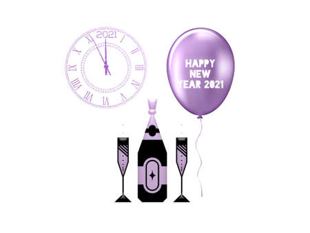 happy new year greetings on white background - 3d rendering