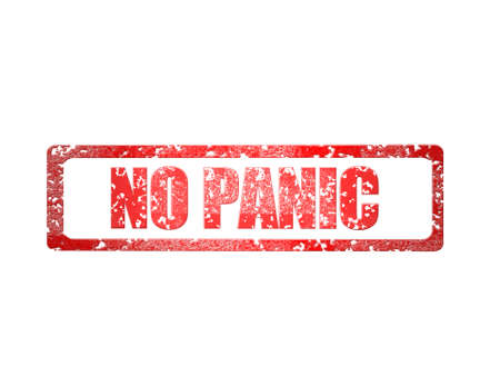 no panic on white background - 3d rendering