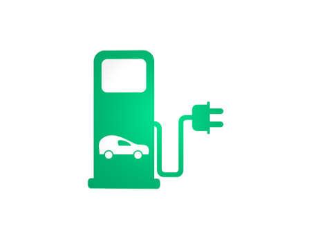 eco gasoline pump on white background - 3d rendering Banque d'images