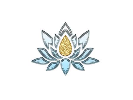 very beautiful lotus flower for meditation - 3d rendering