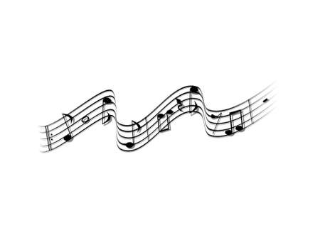 music note on white background - 3d rendering Banque d'images