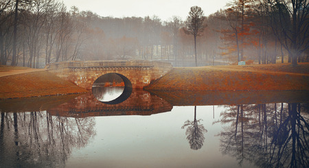 Mysterious bridge in the Palace Park photo