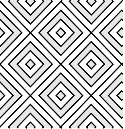 Geometric Pattern, Concentric Squares, Tiles, Seamless