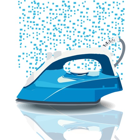 Illustration steam iron Ilustracja