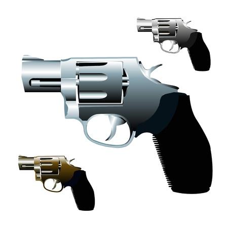 Graffiti Stencil style handgun  Vector
