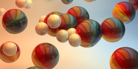 Balls on a background. 3d image.