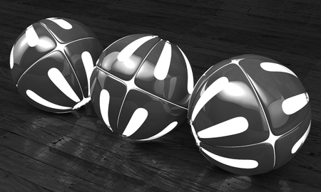 Balls on a background. 3d image. Abstract.