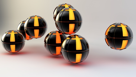 shiny buttons: Balls on a background. 3d image. Abstract.