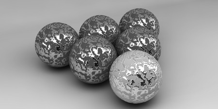 Balls on a background. Abstract. 3D rendering.