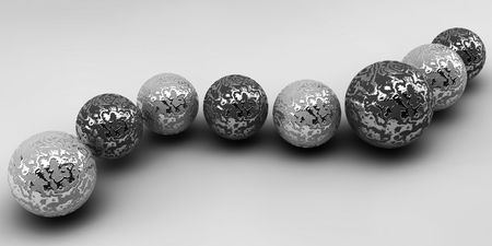 shiny buttons: Balls on a background. Abstract. 3D rendering.