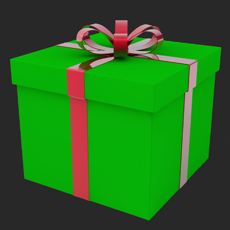 A few gift boxes. A gift for a holiday. 3d rendering. Stock Photo