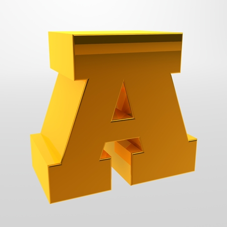 Letters of the alphabet. 3d rendering. White letters on a light background. Capital letter.