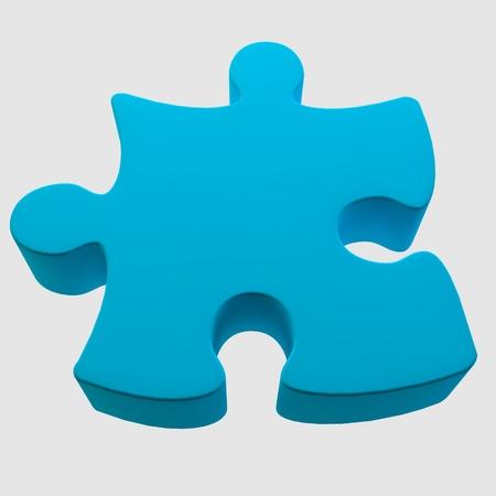 3d image, 3d render. A large volumetric puzzle on a white background. Reklamní fotografie