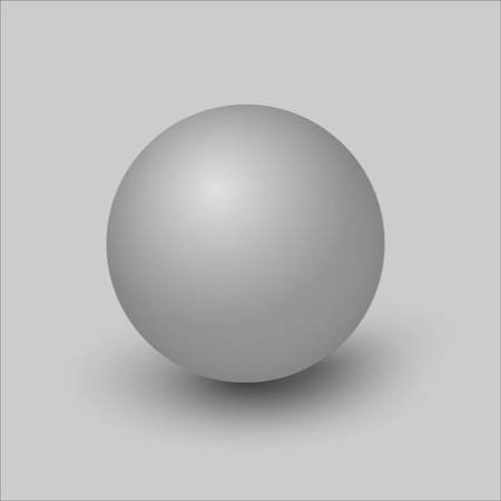 3d vector gray ball. A three-dimensional ball. On a gray background.