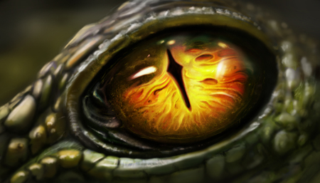The image is completely drawn in Photoshop. Fantastic, close to realism raster image of the eye.