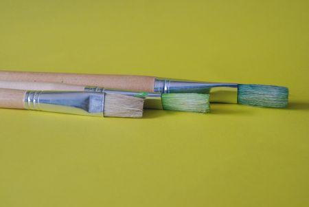 Three paintbrushes Stock Photo - 7460960