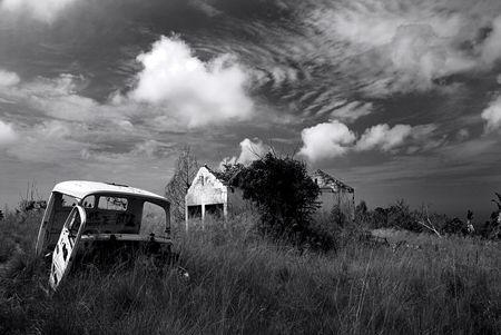 Rouill� vieille voiture