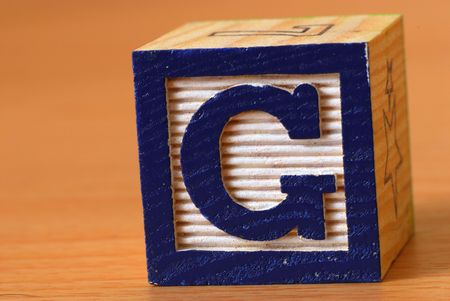 Alphabet block Stock Photo