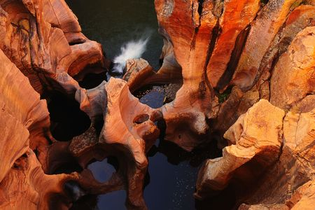 Potholes at Bourke Lucks South Africa Stock Photo