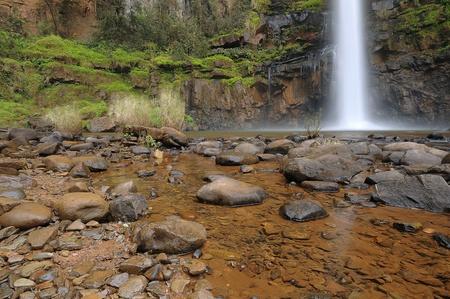 Lone creek waterfall Stock Photo